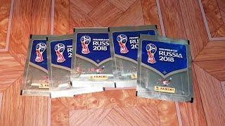 Распаковка 5-и пачек FIFA World Cup 2018 Russia PANINI {|} Чемпионат мира 2018 Panini PACK OPENING