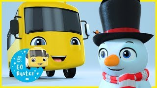 Buster Builds a Snowman! | GoBuster Official | Nursery Rhymes |  ABCs and 123s