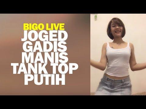 Bigo Live Joged Gadis Manis Tank Top Putih thumbnail