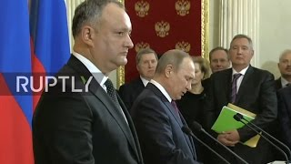 LIVE: Vladimir Putin and Igor Dodon to hold joint press conference in Moscow - ENGLISH