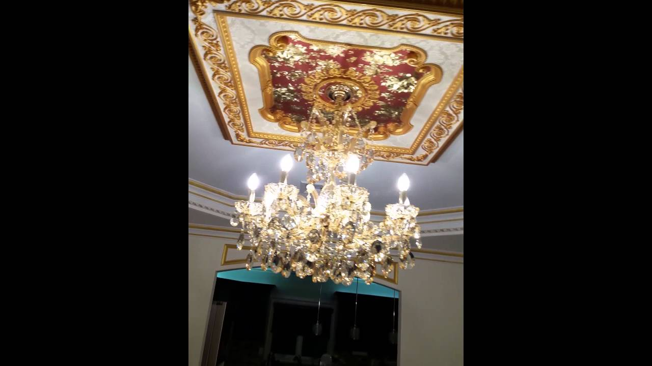 Maria theresa crystal chandelier youtube arubaitofo Choice Image