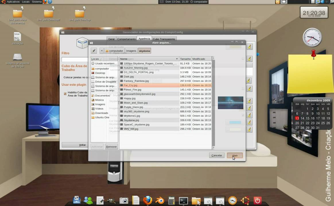 Trocar imagem de fundo do desktop 3d ubuntu youtube for Cuisine 3d mac os x