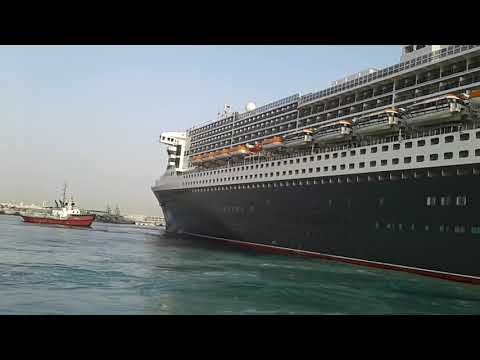 RMS Queen Mary 2 @ Hamad Port qatar on 30th Jan 2019