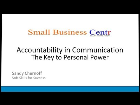 Accountability - the Key to Personal Power