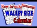 how to make wallet size calendar using Microsoft Publisher (simple & easy)