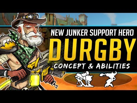 Overwatch NEW Support Hero Durgby - Junkertown Healer Abilities & Concept thumbnail