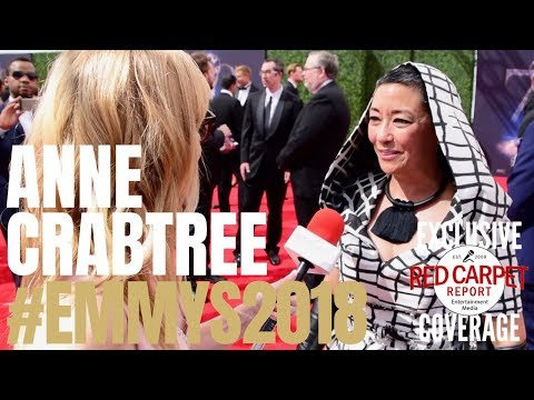 Ane Crabtree, The Handmaid's Tale interviewed at the 2018 Creative Arts #Emmys Red Carpet #EmmysArts