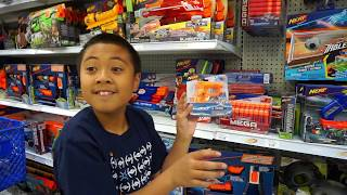"Toys""r""us Shopping For Nerf Guns   Jason Buys 11 Nerf Pistols To Expand His Arsenal"
