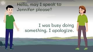 Phone conversations - English speaking skills practice