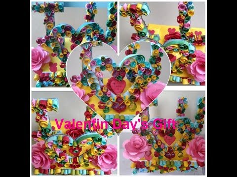 DIY Valentine's Day Gift by Meha| Beautiful Heart Paper Gift|Valentine Day Special Gift