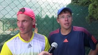 Marek Gengel a Matěj Vocel po výhře ve čtvrtfinále čtyřhry na turnaji Futures v Ústí n. O.