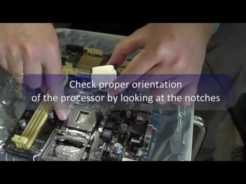 Assembly of Intel Core i5-4440 Processor on Asus H81M-E Motherboard