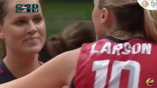 2016 Rio 女排 (Serbia vs USA - semifinal -5th set)