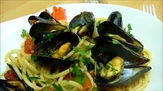 Italian Food Seafood Pasta Recipe. Healthy Recipes From Italy.