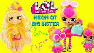 LOL SURPRISE Neon QT Gets A Big Sister DIY Shopkins Shoppie Doll Pineapple Lily Custom Makeover