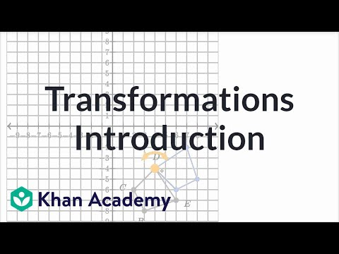 Introduction To Transformations | Transformations | Geometry | Khan Academy