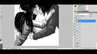 Lesson №3 How To Draw Anime/Manga Kiss (Как рисовать в стиле манга)(Из этого урока Вы сможете почерпнуть основные мотивы и азы рисования анимешных поцелуев или манга-парочек...., 2012-01-30T15:25:03.000Z)