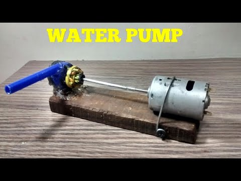HOW TO MAKE A HIGH PRESSURE WATER PUMP ,WORKING VIDEO