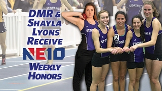 Stonehill College Women's DMR and Shayla Lyons Earn NE10 Weekly Honors