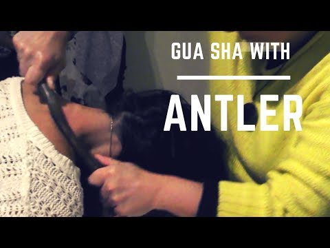 Gua Sha with real antler - lots of fun!