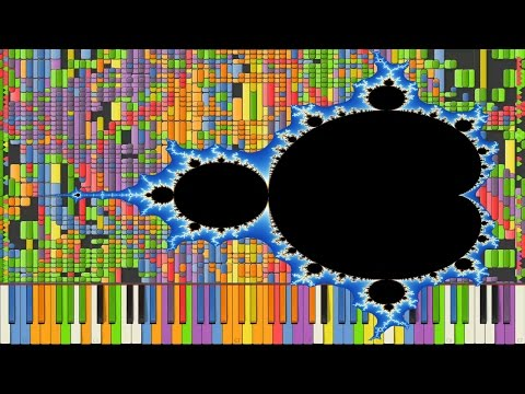 [Black MIDI] Synthesia – Fractal Images 1 million ~ TheSuperMarioBros2