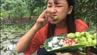 Đi Hái Cà Na Ngoài Vườn Ăn Cả Vỏ Và Trái Chấm Muối Ớt Siêu Cay