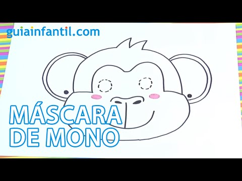 C mo dibujar una m scara de mono para ni os youtube - Como hacer una mascara ...