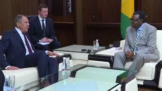 С Президентом Намибии, Виндхук, 5 марта 2018 г.