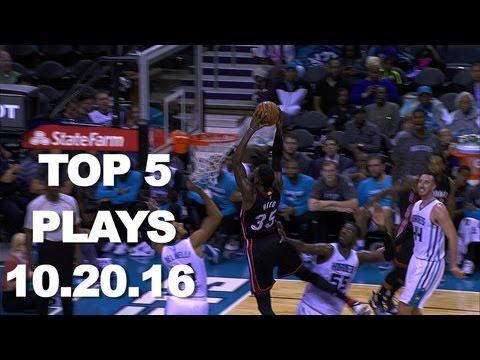 Top 5 NBA Plays: October 20th