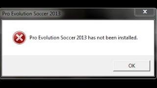 Pro Evolution Soccer 2013 has not been installed | Pro Evolution Soccer 2013 مشكلة لم يتم تثبيت لعبة
