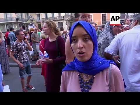 Muslim Community Rallies Against Barcelona Attackers