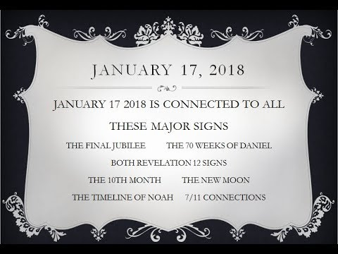 ALL SIGNS CONNECT TO JANUARY 17, 2018