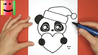 CUTE BABY PANDA FOR CHRISTMAS - DRAW AND COLOR