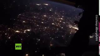 Lightnings & city lights: Night 400 km above the Earth