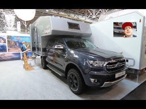FORD RANGER BIMOBIL HUSKY 230 ALLRAD 4X4 RV CAMPER BOX WALKAROUND AND INTERIOR