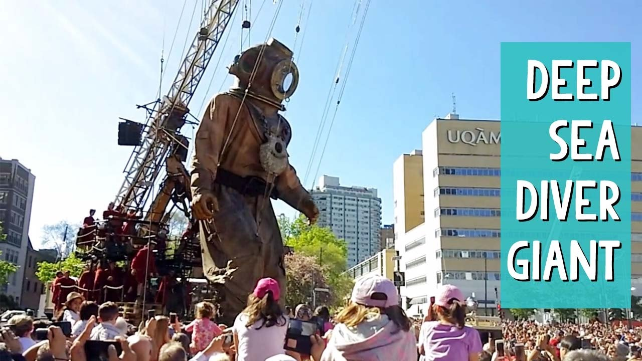 Little Girl Giant And Deep Sea Diver Taking Over Montreal -1484