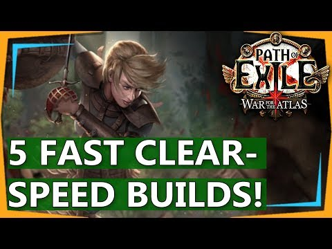 5 Fast Clear Speed Builds (Mappers) - Path of Exile 3.1 War for the Atlas (2018)