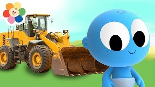 The Bulldozer - Learn Vehicles and Colors with GooGoo Baby   Educational Video for Kids by BabyFirst