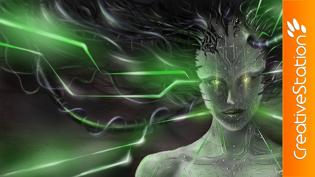 SHODAN from System Shock - Speed painting ( #PaintTool SAI, Photoshop ) |  CreativeStation