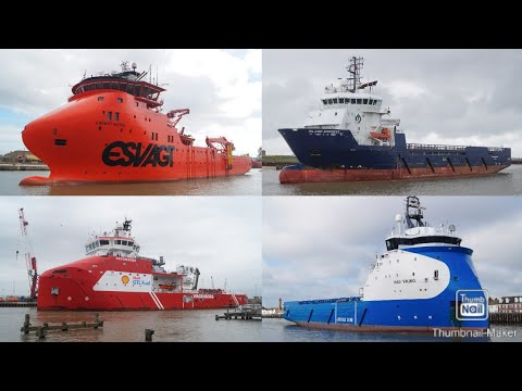 Offshore supply/support ships - Compilation of photo's taken 2016/2017.