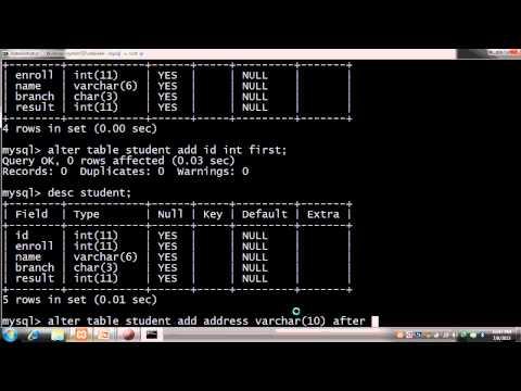 RDBMS MySql Beginner - 1 DDL,create Database,create Table,alter And Drop In Hindi