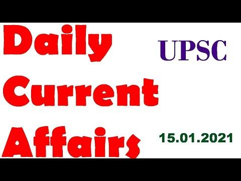 UPSC CSE Current Affairs 15.01.2021