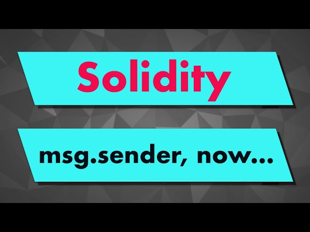 Solidity Tutorial: Built-in Variables (msg.sender, msg.value...)