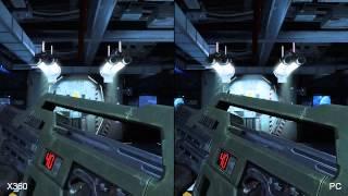 Aliens Colonial Marines Xbox 360 vs PS3 vs PC Comparison HD
