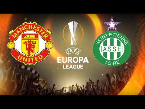 FIFA 17 - MANCHESTER UNITED VS ST. ETIENNE LOIRE GAMEPLAY - UEFA EUROPA LEAGUE ROUND OF 32 FIRST LEG