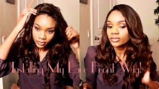 How I Install My Lace Front Wig **BestLaceWigs.com OSW005 Ombre Collection + $25 Off!!!