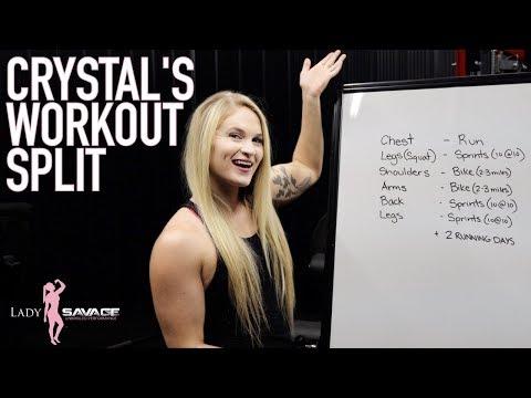 crystal-workout-split- -lady-savage-training