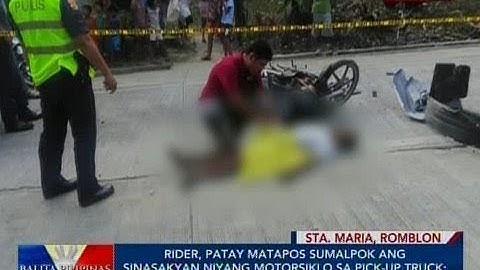 BP: Rider, patay matapos sumalpok ang sinasakyan niyang motorsiklo sa pick-up truck