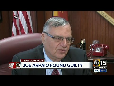 Judge rules former Sheriff Joe Arpaio guilty in criminal contempt case