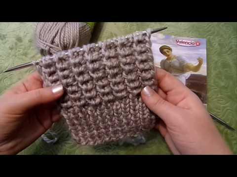 Американская резинка. Вязание спицами. Обзор пряжи Valencia Mango